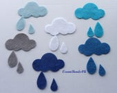 12 Felt Clouds and Drops