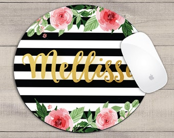 Personalized Mouse Pad - Monogrammed Mouse Pad - New Job Gift - Personalized Office - Secretary Gift - Desk Accessories - Custom Mousepad