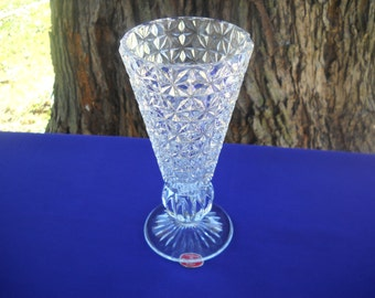 Fostoria Vase, Made Exclusively For Princess House By Fostoria U.S.A. Crystal Glass Vase