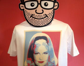 Peggy Lee - Fever - Jazz Music T-Shirt (Hope Poster Style) - White Shirt