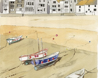 St. Ives  Cornwall Pen Ink and Wash