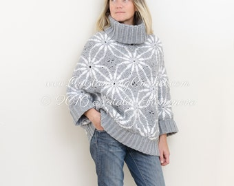 Women Sweater Crochet PATTERN Kimono Sleeves Women Top