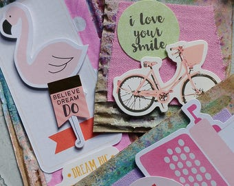 Corrugated Cardboard Tags - Hot Pink Fun & Flirty