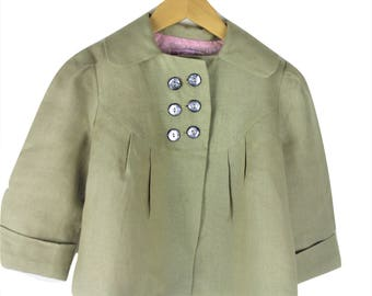 Girls Khaki linen jacket