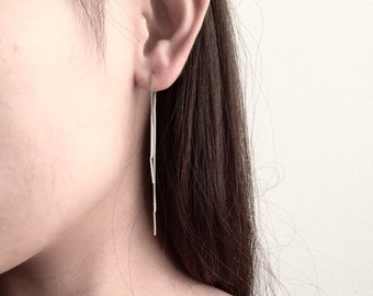 Dainty long dangle threader earrings