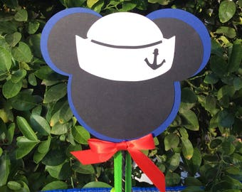 Nautical Centerpieces/Mickey Baby Shower/Mickey Cake Topper/Mickey Mouse  Birthday/Mickey