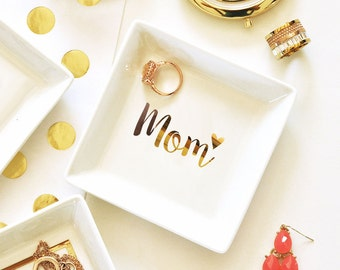 Mom Ring Dish - Mother of the Bride, Mother of the Groom, Birthday Gift - Mother's Day Gift