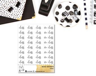 Word Sticker - CLASS