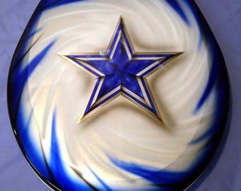 Dallas Cowboys Custom Airbrushed Toilet Seat, New Premium Lid, Football, Metal cut design, Bathroom Art!!!