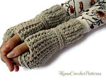 Fingerless Gloves-  Crochet Pattern - Fingerless Gloves Crochet Pattern - Women Mittens Pattern- Instant Download
