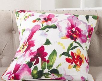 "FLORAL Decorative Pillow (cover+insert) 20"" throw pillow - sofa pillows- home decor"