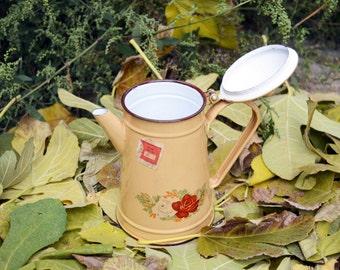 Vintage tea kettle Coffee kettle Tea pot Enamel tea kettle Retro tea kettle Enamel kettle Stove top kettle Retro tea pot Metal teapot