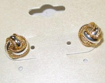 E-1 Vintage Earrings 24 k gold over silver