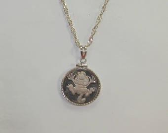 E-43 Vintage  Necklace   999 silver 20 inch long