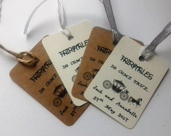 Fairytale wedding, fairytale wedding tags, Cinderella wedding, fairytales do come true, wedding favour tags, Disney wedding.
