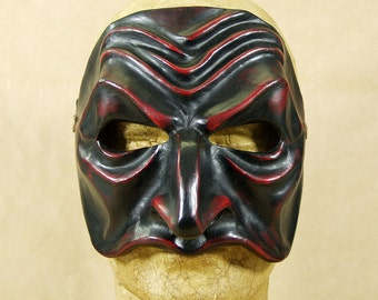 Commedia dell'Arte mask in papier maché: Pantalon de Bisognosi