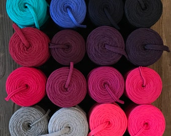 SAMPLE of Fabric Yarn for Baskets and Necklaces // Choose 5 color samples