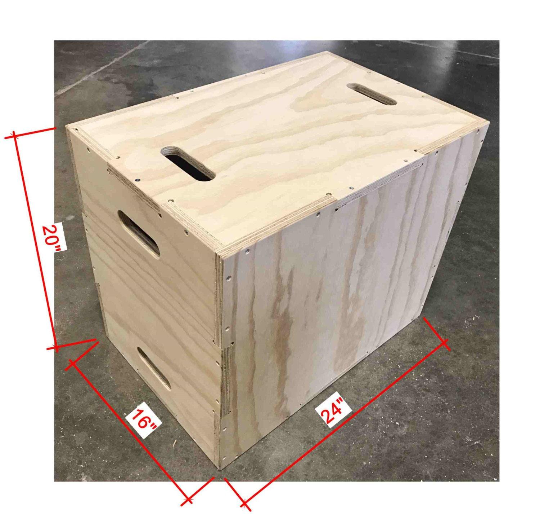 16x20x24 plyo box flat pack. Black Bedroom Furniture Sets. Home Design Ideas