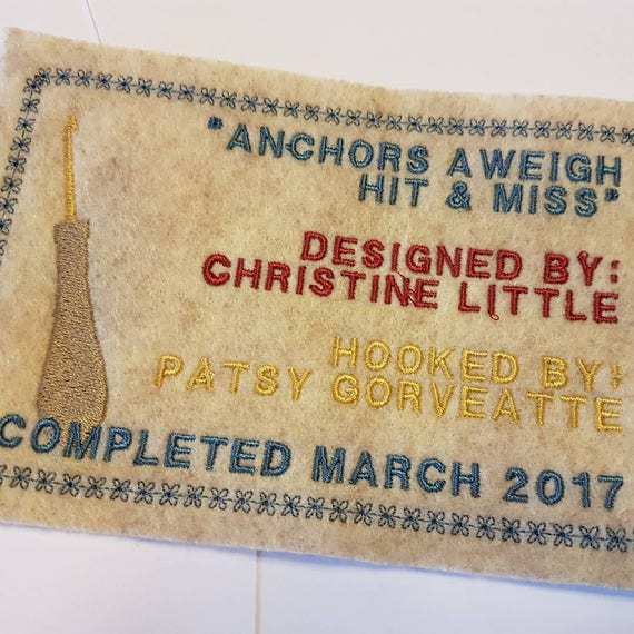 """Personalized Hooked Rug Labels Custom Rug Hooking 4"""" X 6"""
