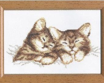 Cross Stitch Kit Cats
