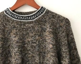 Vintage Wool Alpaca Sweater -  Andean Sweater