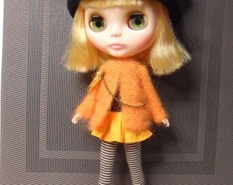 BLYTHE --Orange Sweater with Pocket Watch--