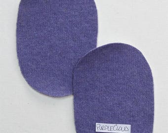 Iron On Cashmere 2 Ovals  Elbow Patches Purple Cloud