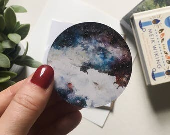 Watercolour Nebula Space Sticker