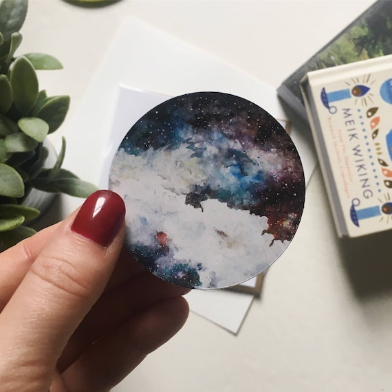Watercolour Nebula Space Sticker