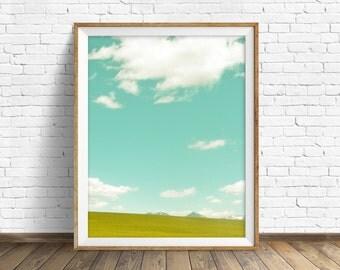 "landscape photography, landscape, instant download printable art, digital download, large art, large wall art, art prints - ""Spring Meadow"""