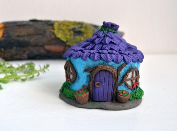 Items similar to fairy house with purple leaves roof - Creation de maison virtuelle gratuit ...