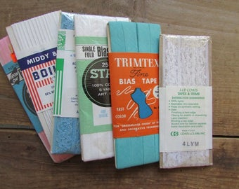 Vintage Trims and Bias Tape Sewing Notions