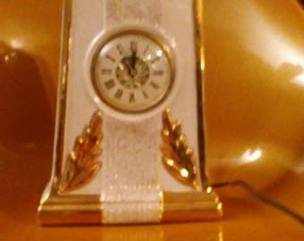 Vintage LE MIENUX Hand Decorated 22 kt Gold Clock