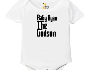 The Godson, Any Name Onesies, , Baby One Piece , Funny Baby one piece Bodysuit-Short-Sleeve Onesie Bodysuit