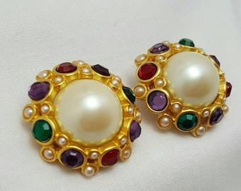 Faux Gem Designer Style Earrings