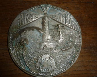 Lighthouses and beacons deco boat nautical marine french bronze plate