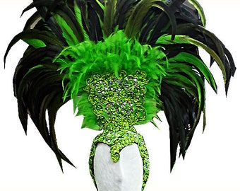 Feather Headdress - Pena Cabeca - Feather Samba Headdress, Showgirl Headdress, Vegas Headdress, Federkopfschmuck, Coiffe Plume