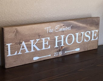 Lake House Sign, Family Sign, Lake Established Sign, Vacation Home Sign, Lake Sign, Lake House Decor, Rustic Lake House Sign
