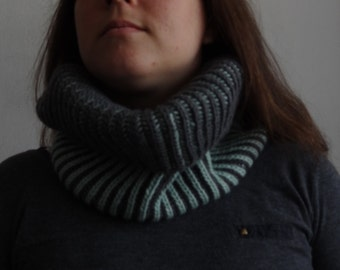 SPECIAL PRICE Suzette wool knitted brioche cowl / winter accesory, warm, soft
