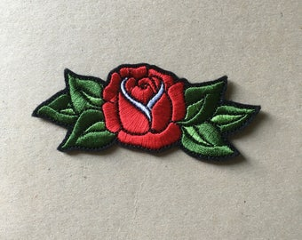 Traditional Tattoo Rose Sew On Patch