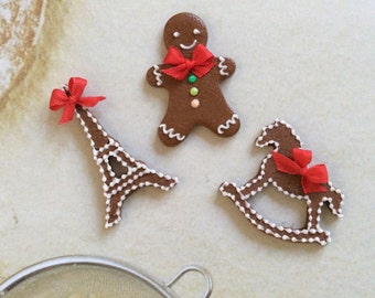 Christmas Gingerbread in Playscale  for Blythe or  1:6 Scale dolls