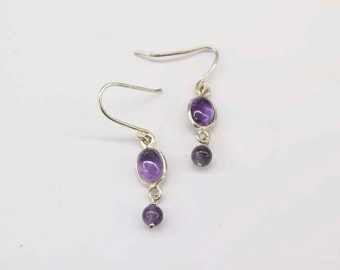 Vintage amethyst earrings