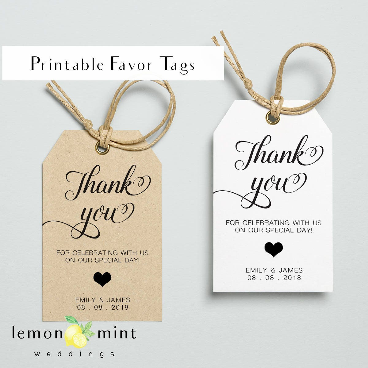Légend image pertaining to printable wedding favor tags