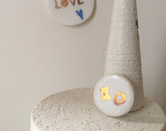 Pin's in porcelain - Handmade jewelery - purified - made in France