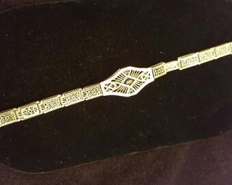 Vintage 18K GF Art Deco Simmons Bracelet