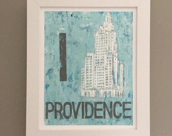 Providence, Rhode Island|Superman Building| 8x10 | Archival Matte Print| City Art Print| Wall Art| Home Decor| Urban Art| Cityscape Art