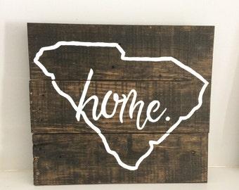 Custom State Wood Home Sign