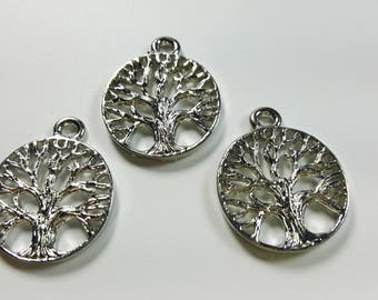 15 Pcs Exclusive Tree of Life  Charms,  Tree of Life  Pendants, findings 18 mm
