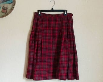 Vintage Pendleton Plaid Skirt