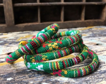 5 Green ethnic bangles